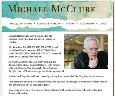 Michael McClure Website