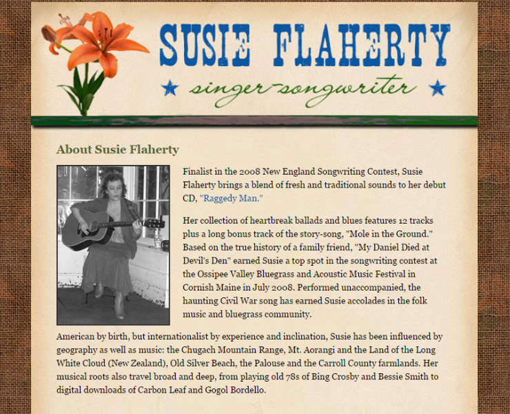 Susie Flaherty - Singer-Songwriter