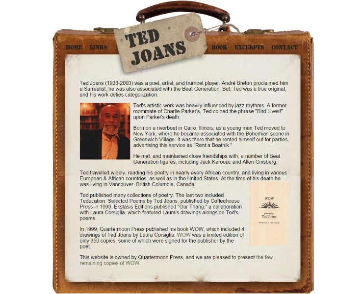 Ted Joans - Poet &  Artist