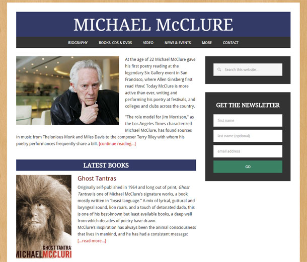 Michael McClure Website