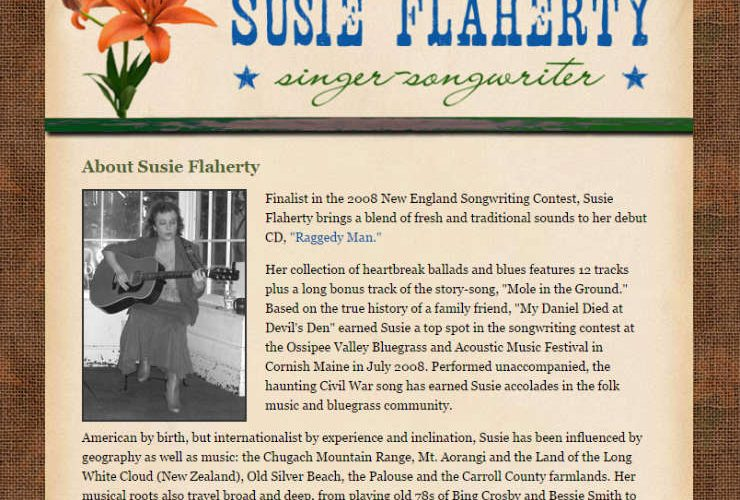 Susie Flaherty, Singer-Songwriter