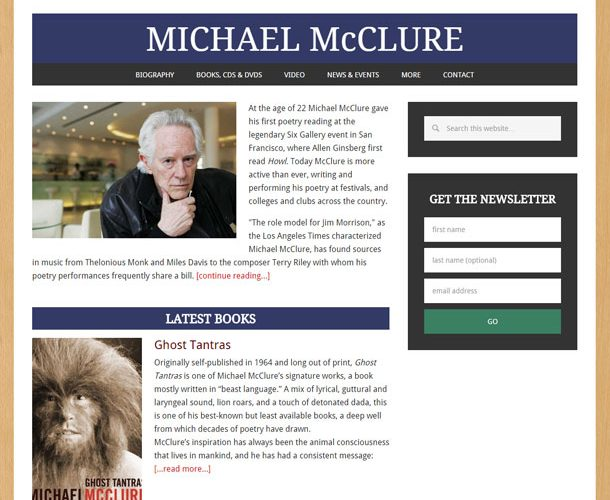 Michael McClure: poet, essayist, and playwright