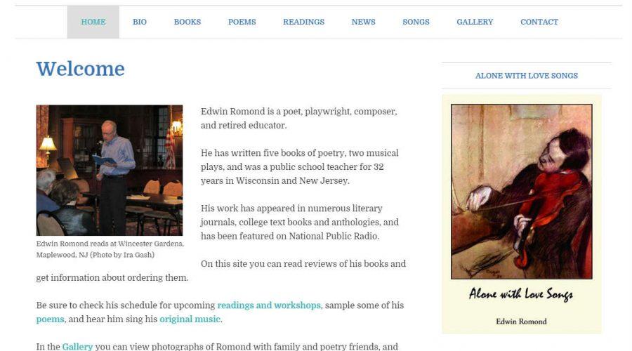 Edwin Romond, Poet