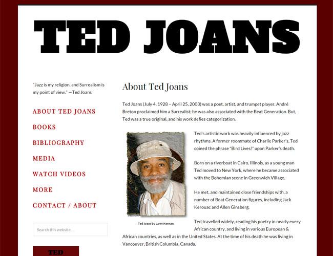 Ted Joans - poet, artist