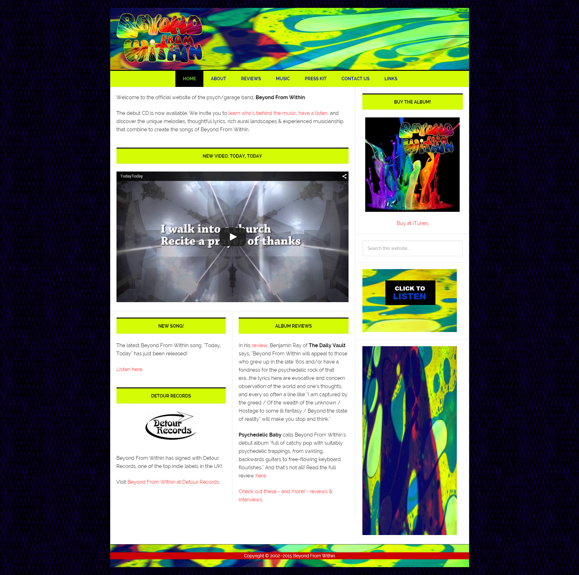 Beyond From Within - Psychedelic Band website